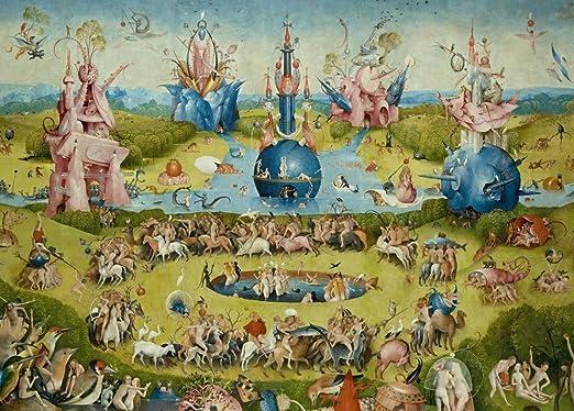 Hieronymus Bosch el jardín de las delicias, más detalle C1480 – 1505. 250 gsm brillante Art Tarjeta A3 reproducción de póster: Amazon.es: Hogar