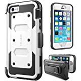 iPhone 5SE Case, [Armorbox] i-Blason built in [Screen Protector] [Full body] [Heavy Duty Protection ] Shock Reduction / Holster / Bumper Case for Apple iPhone 5 SE 2016 Release