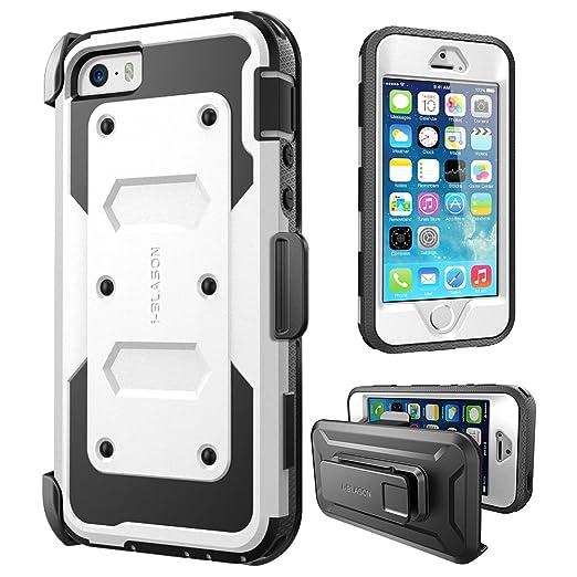 82 opinioni per Apple iPhone SE / 5S / 5 Cover, Protezione Slim i-Blason Armorbox Custodia