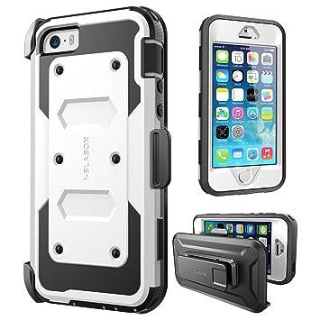 i-Blason Carcasa para Apple iPhone SE / 5S / 5, Serie Armorbox Funda con Protector para la Pantalla integrada [protección rubusta] con Cubierta ...