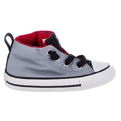 Converse Chuck Taylor All Star Street Mid Blue Granite Casino White (Toddler ) ace229e83