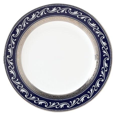 Amazon.com: Noritake Crestwood Cobalt Platinum Accent Plate, 9 ...
