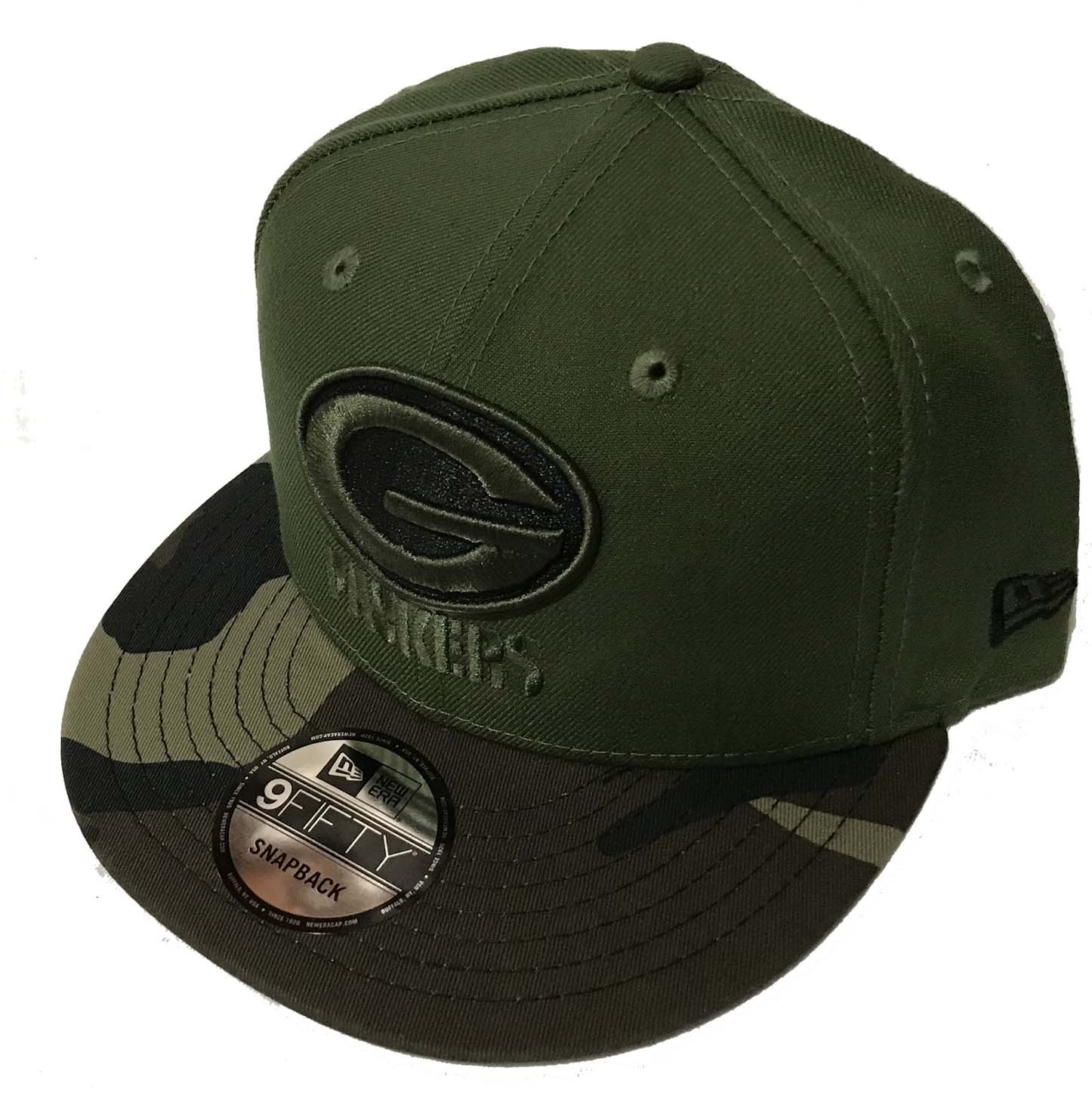AuthenticグリーンベイPackers Salute to Service Limited Exclusive 9 Fiftyスナップバックキャップ   B07BFRNV6D