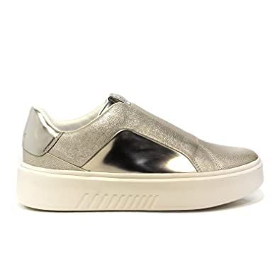 fba3b18bc7e47 Geox Moccasin Low for Women Platinum-Colored Article D828DB 0KYBN C0586 D B  NHENBUS New Spring Summer Collection 2018