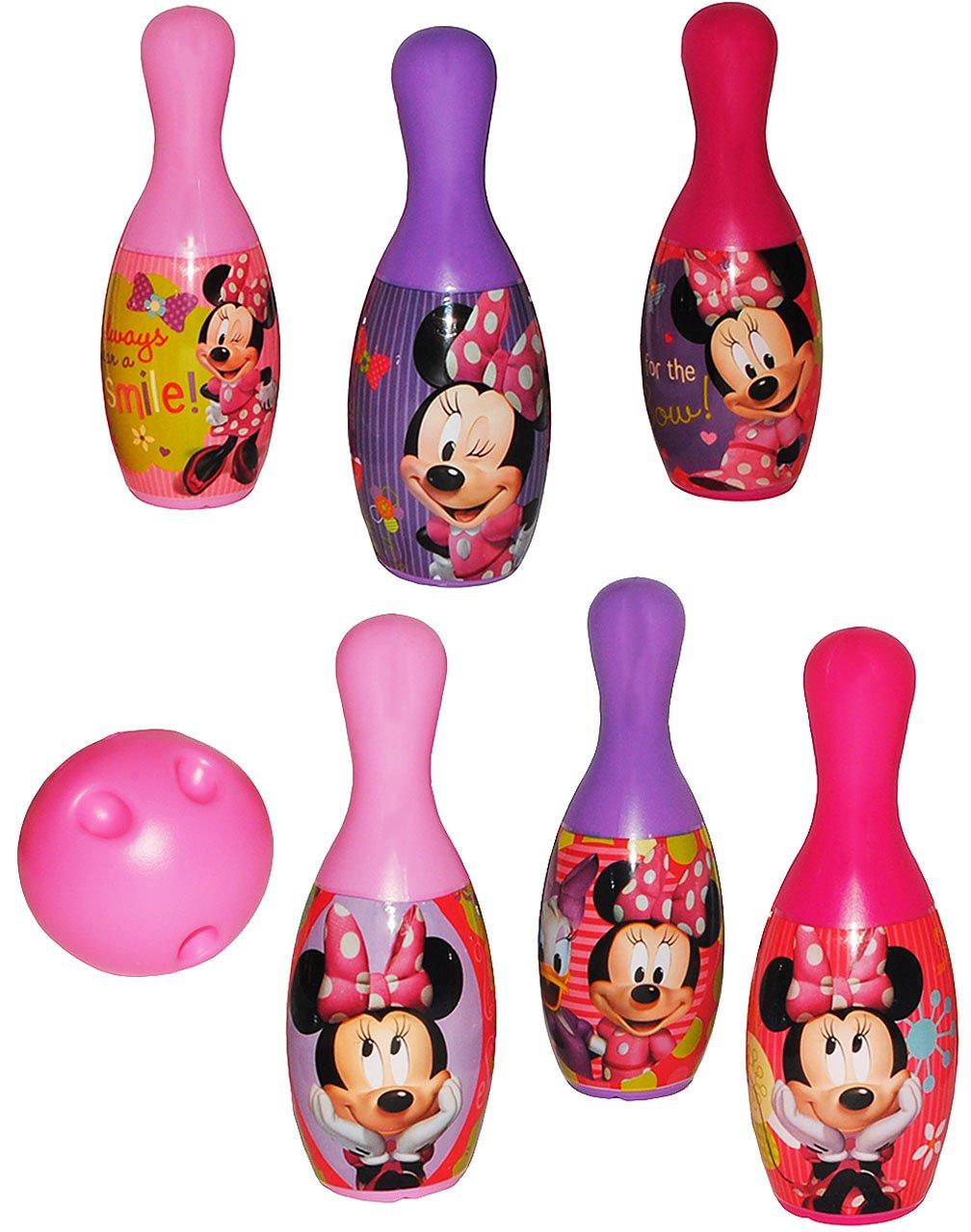Unbekannt 7 tlg. Set Kegelspiel / Bowling - Disney Minnie Mouse - Incl. Namen - aus .. Kinder-land