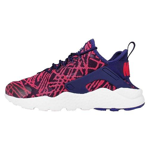 d63c573b57dd2 Nike WMNS Air Huarache Run Ultra Jacquard 818061-001 Blue red white 5 B(M)  US  Amazon.in  Shoes   Handbags