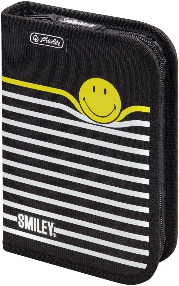 20 cm Multicolor Herlitz SmileyWorld B /& Y Stripes Trousses 19 pi/èces