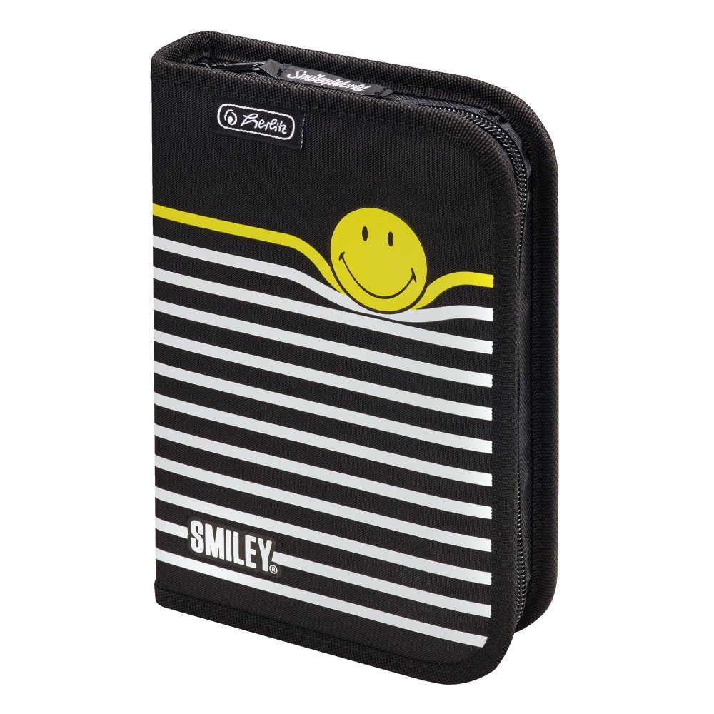Herlitz SmileyWorld B /& Y Stripes Trousses 19 pi/èces Multicolor 20 cm