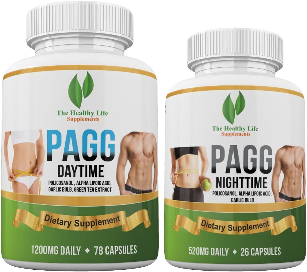 Ultimate PAGG Stack Formula – Blend of 8 Potent Dietary Supplements Helps to Build Muscle and Increase Weight Loss 4 Hour Body by Tim Ferriss