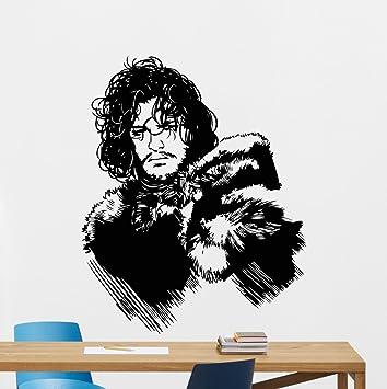 Amazon.com: Jon Snow Wall Decal Game Of Thrones Vinyl Sticker ...