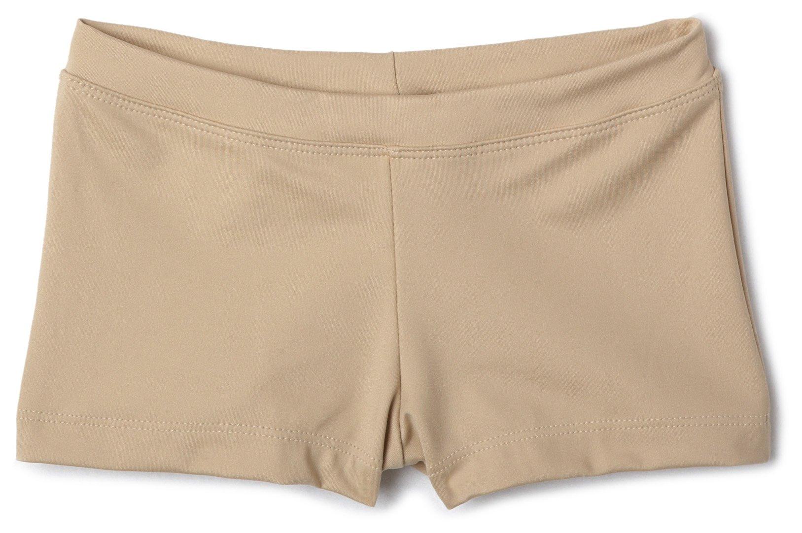Capezio Big Girls' Boy Cut Low Rise Short,Nude,L (12-14)