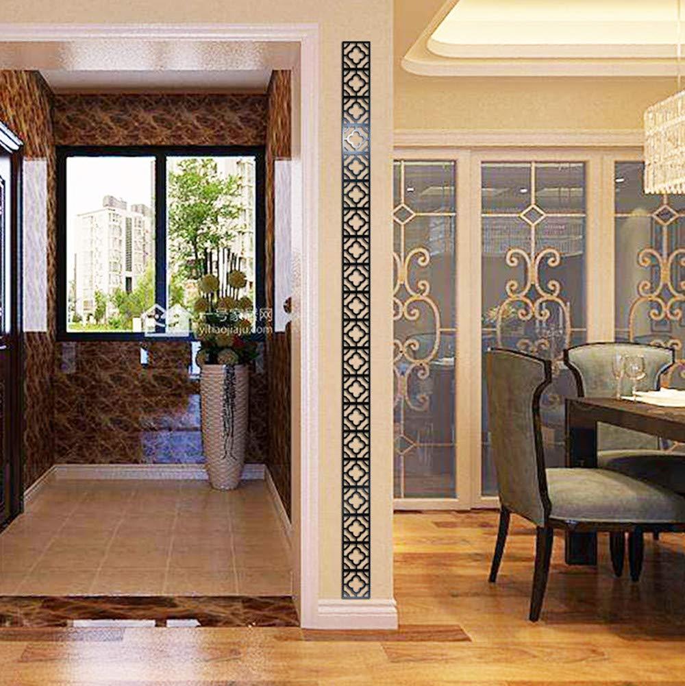 JiaMeng Pegatinas de Pared 3D Moderno Espejo Flores Vinilo extraíble Etiqueta de la Pared calcomanía decoración para el hogar: Amazon.es: Hogar