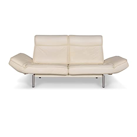 de Sede DS 450 Leather Sofa Old White Cream Two-Seater Couch ...