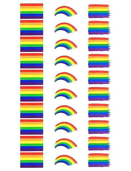 Tatuajes temporales de la bandera de arcoíris de Fiomia, pegatinas ...