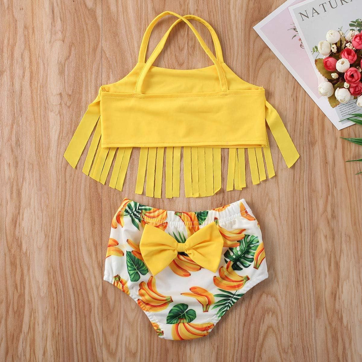 xkwyshop Toddler Newborn Infant Baby Girl Swimsuit Bikini Toddler Girls Swimwear Bathing Suit 2 Piece Beachwear 6M-5T
