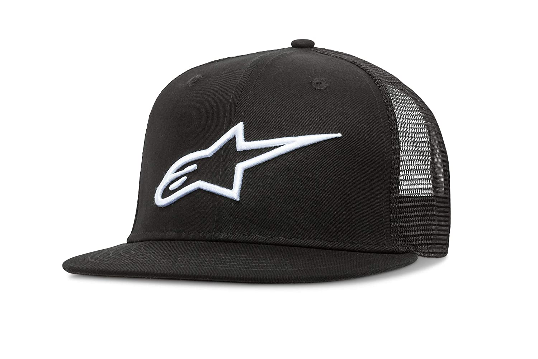 Amazon.com  Alpinestars Men s Bill Trucker Snap Back Flat Embroidered Logo  Flexfit Hat db7f797bb18