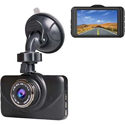 "Dash Cam 1080P Car DVR Dashboard Camera Full HD with 3"" IPS Screen 170°Wide Angle, WDR, G-Sensor, Loop Recording and Motion Detection.: Car Electronics"