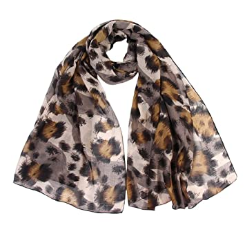 f1b9c0a65c432 Zolimx Leopard Print Schal Frauen Damen Wrap Tücher Stirnband Weichen Schal  Langen Schal