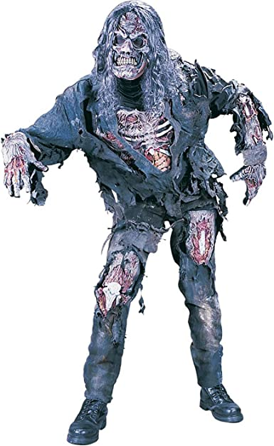 Mask Adults Halloween Fancy Dress Horror Costume Mens Outfit Complete Zombie