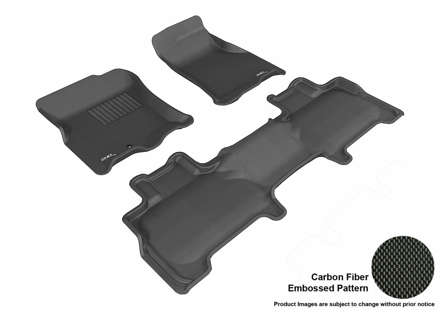 Kagu Rubber 3D MAXpider Complete Set Custom Fit All-Weather Floor Mat for Select Ford Expedition Models Tan