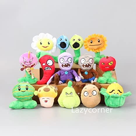 Generic Plants vs Zombies 2 Figures Plush Baby Soft Stuffed Toy Doll 14 pcs  Small PVZ 3''-6''