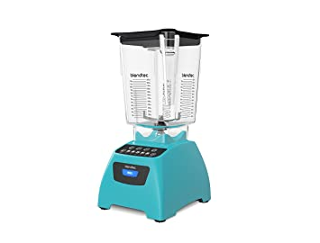 Blendtec Classic 575 Blender With Wildside+ Jar (96 Oz) And Four Side Jar (64 Oz) Bundle, Commercial Grade Power, Self Cleaning, 4 Pre Programmed Cycles, 5 Speeds, Caribbean Blue by Blendtec