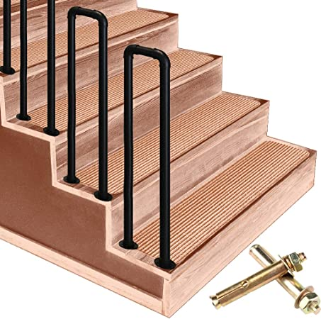 Barandilla Picket # 3 Se adapta a las barandillas de escalera de hierro forjado de 3 escalones,