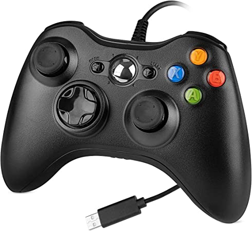 Amazon.com: Wired Controller for Xbox 360, YCCTEAM Wired USB Game Controller Gamepad Joystick with Dual Vibration and Shoulders Buttons for Microsoft Xbox 360/Xbox 360 Slim/PC Windows 7/8/10 (Black): Electronics