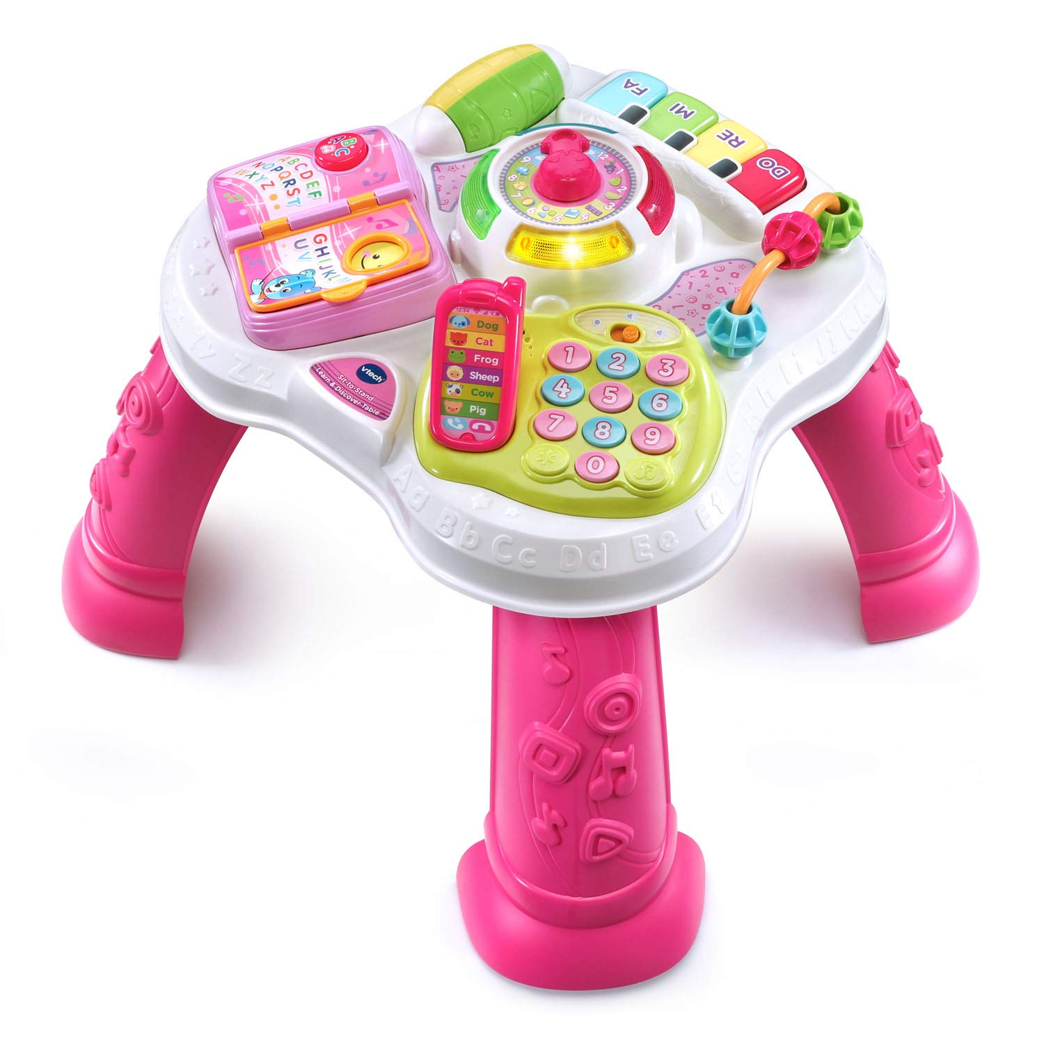 VTech Sit-To-Stand Learn & Discover Table, Pink by VTech (Image #2)