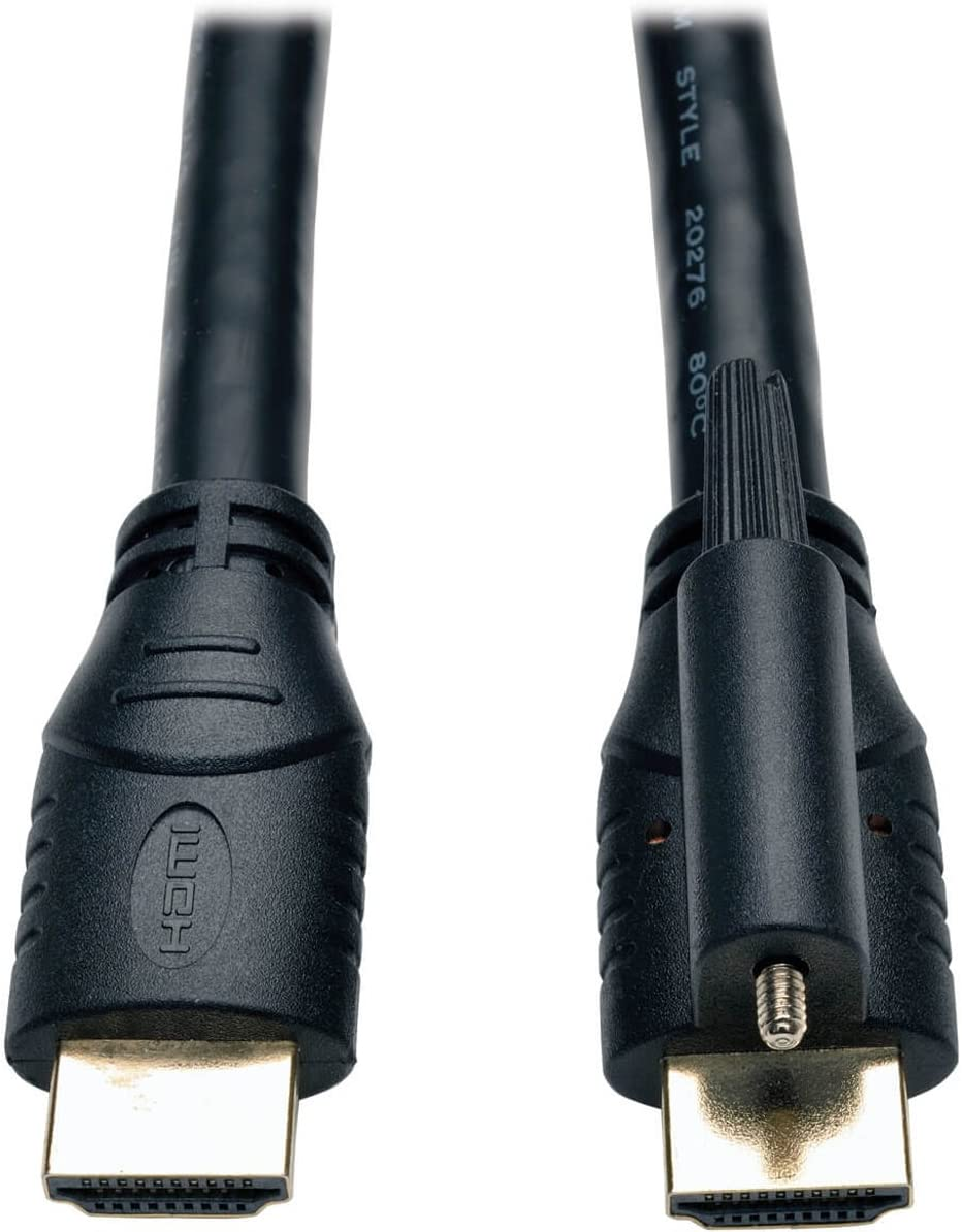 Tripp Lite High Speed HDMI Cable with Ethernet and Locking Connector, Ultra HD 4K X 2K, 24AWG (M/15-ft. (P569-015-LOCK)