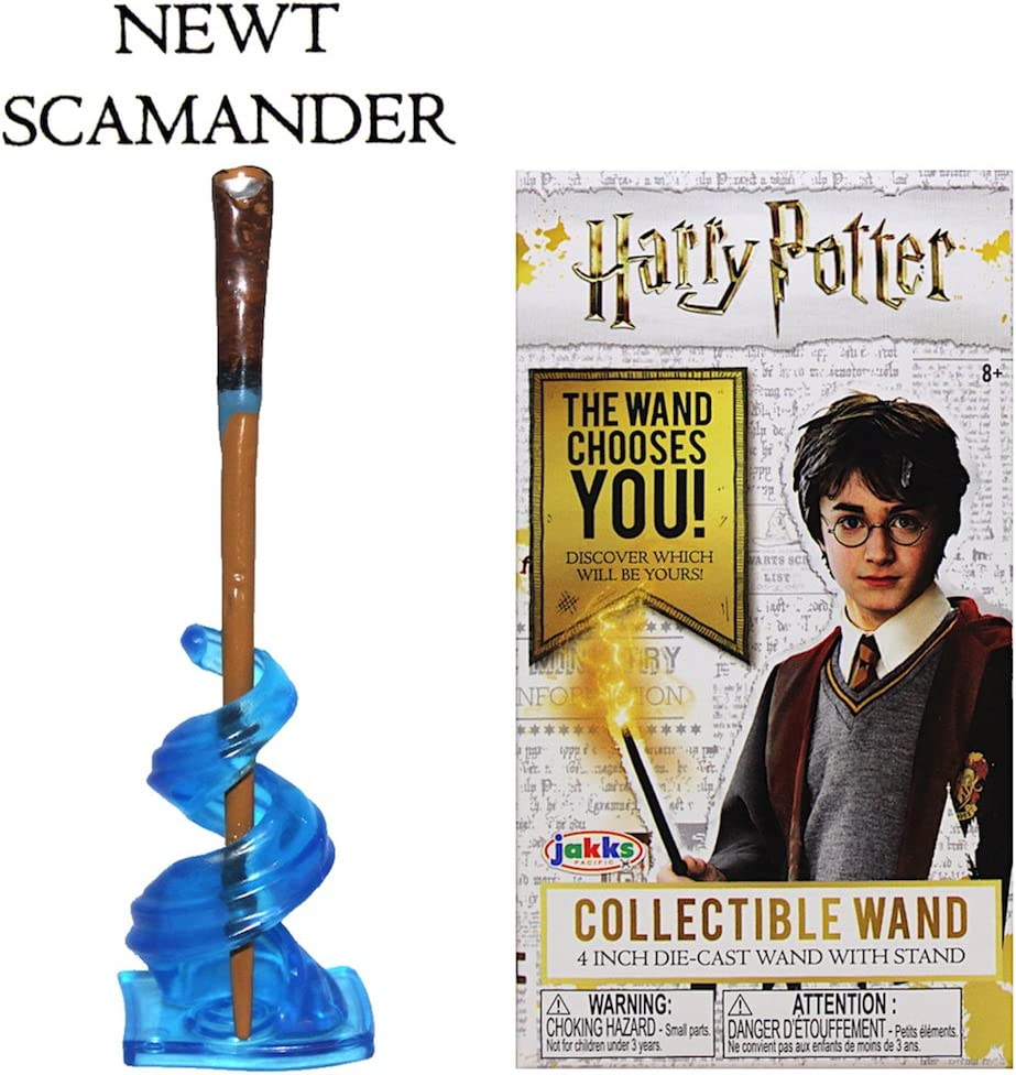 Harry Potter Die-Cast Collectible Wand 4 Inch Newt Scamander