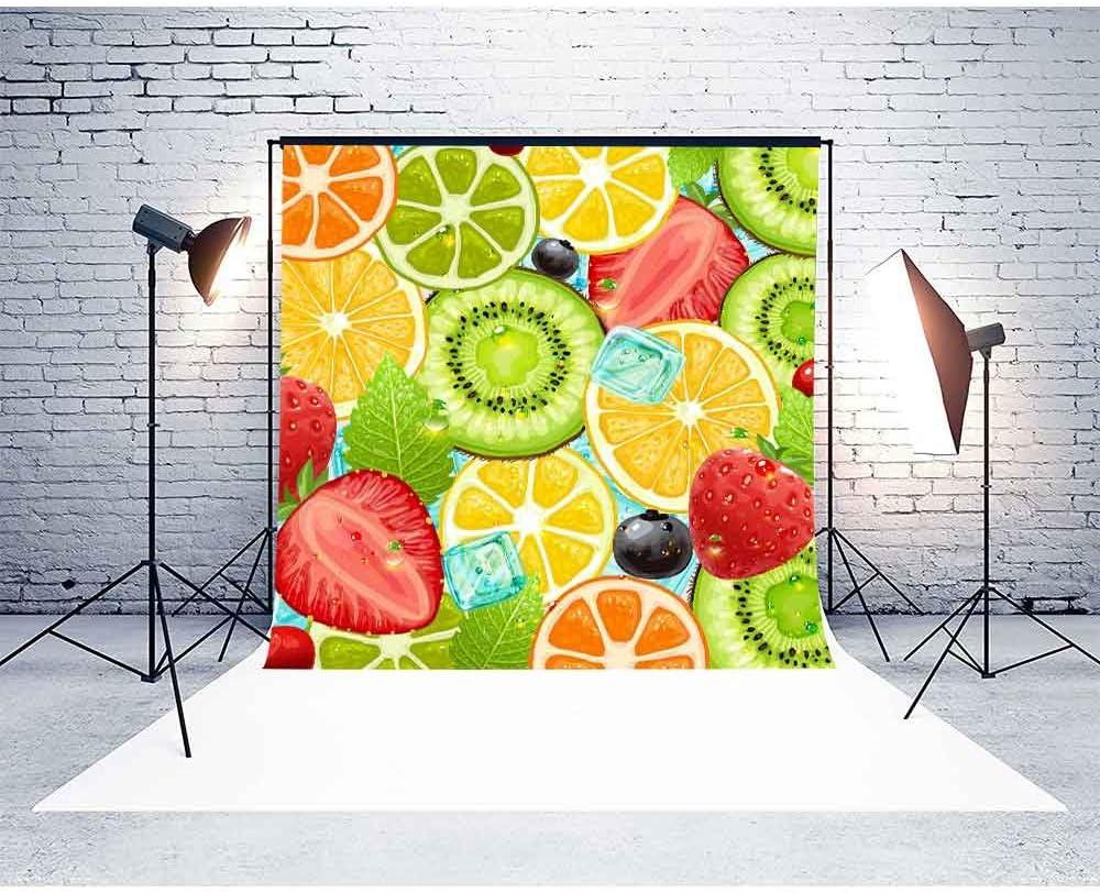 MME 10x10Ft Summer Fruit Ice Background Child Photography Seamless Vinyl Video Studio Photograph Backdrop NANME443