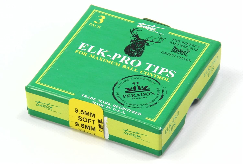 Elk Master PRO Pool Snooker Cue Tips NEW 9.5mm SOFT by Tweeten