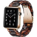 Sundaree® Compatible with Apple Watch バンド 38&40mm、ファッションな樹脂製ブレスレット 時計バンドfor iWatchバンド 、スポーツ&エディション バンド メタルステンレススチールバックル for アップルウォッチ シリーズ4/3/2/1 (亀の石の色 38mm)