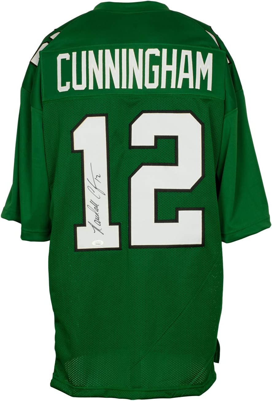 Randall Cunningham Signed Custom Pro-Style Green Football Jersey JSA