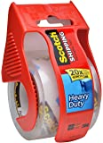 Scotch Heavy Duty Shipping Packaging Tape RPW6L, 1.88 Inches x 800 Inches, 2 Rolls with Dispenser
