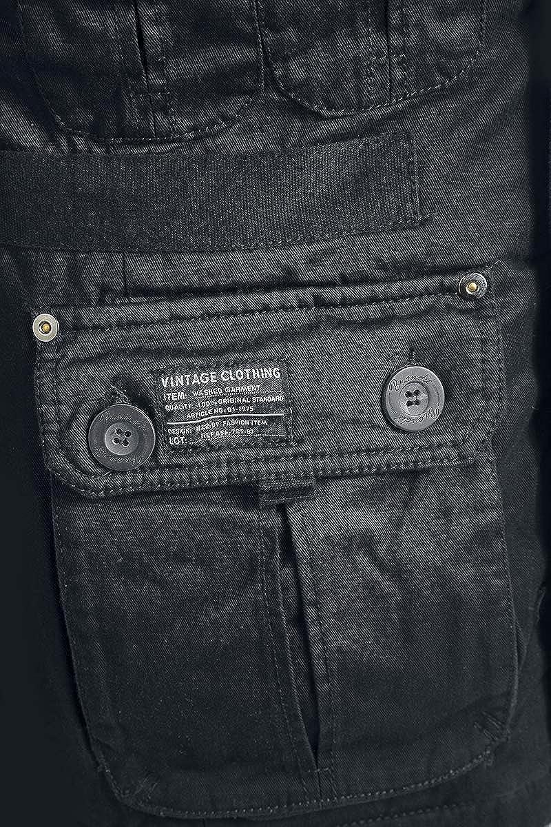 Noir Platinum Vintage Brandit Textile Jacket Xxl YxS7RI