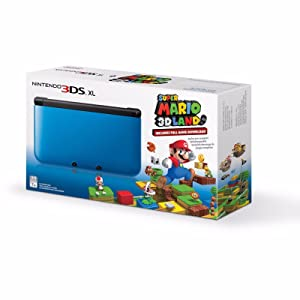 Nintendo 3DS XL Console with Super Mario 3D Blue