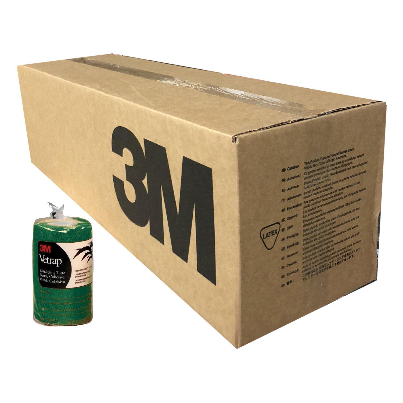 3M Vetrap 4in Bandaging Tape Hunter Green Case 100 Rolls 4in x 5yd by 3M (Image #1)
