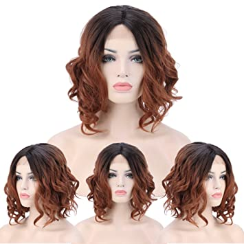 Amazon Com Black To Dark Auburn Ombre Wig Lace Front Wigs For