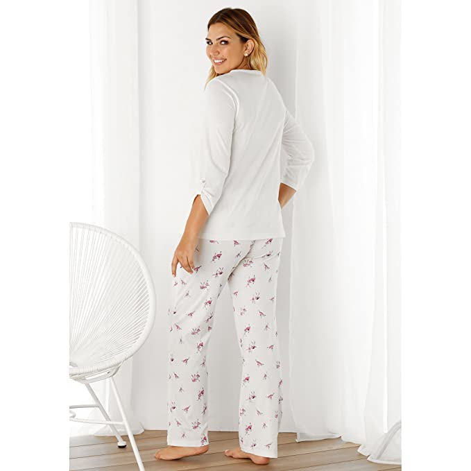 VENCA Pijama Camiseta de Escote v con Tapeta y Botones by Vencastyle: Amazon.es: Ropa y accesorios