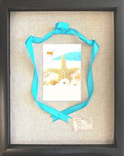 product image for flag connections 12x15 Shadow Box Display Frame with Linen Background and 8 Stick Pins - Large Shadowbox Picture Frame