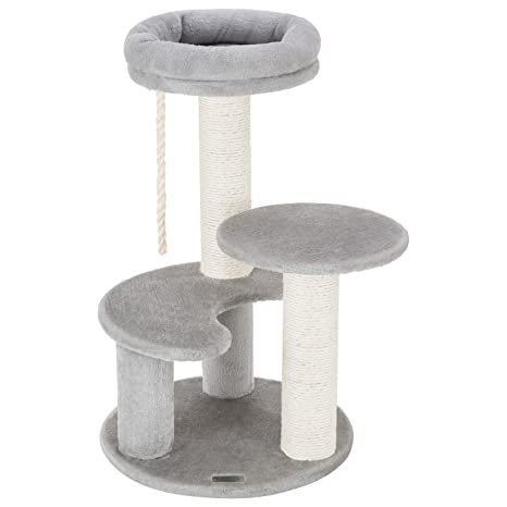 Ollieroo Small Cat Tree Condo Playhouse With Sisal Scratch Posts Kitty Furniture Tower Moon Shaped Ladder