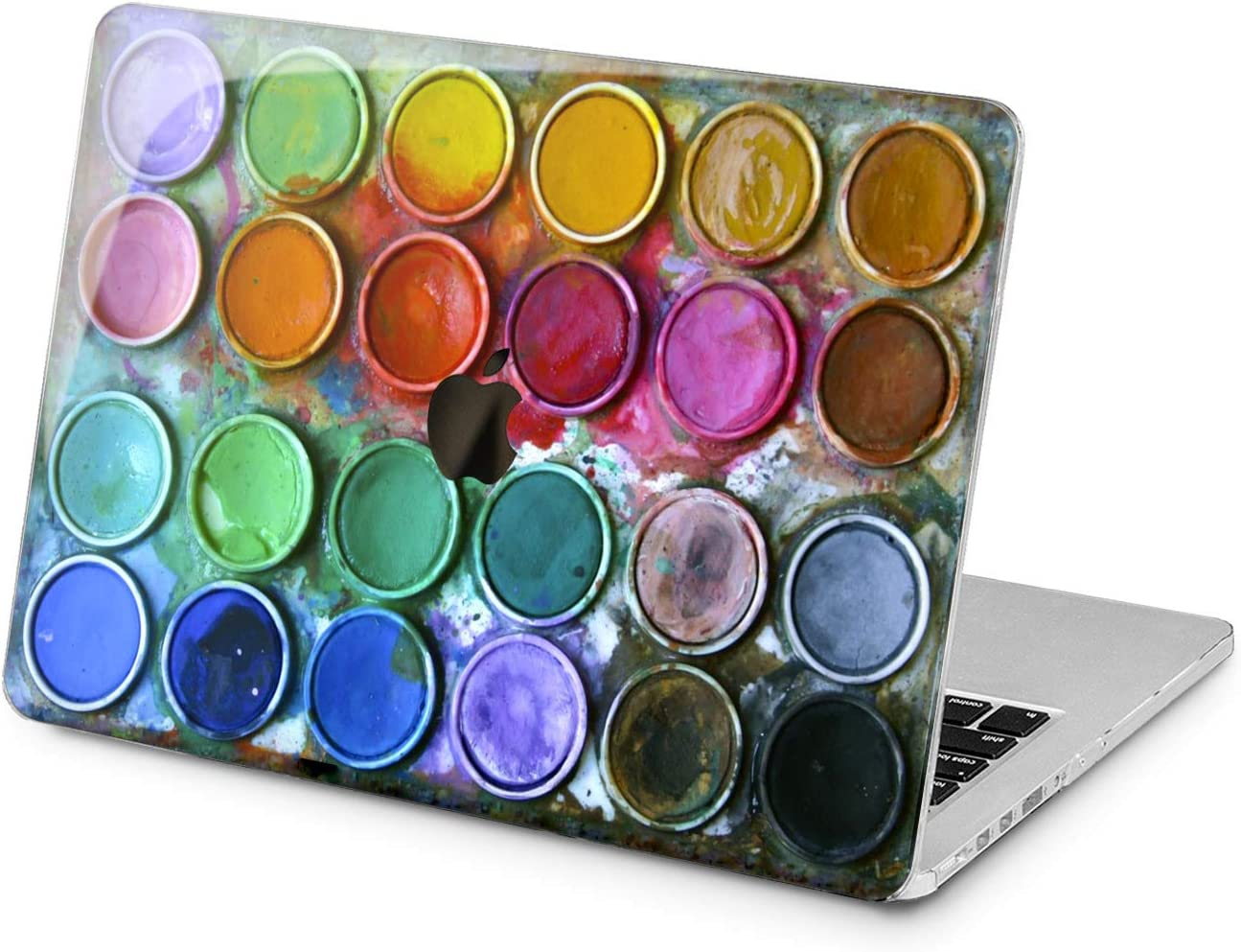 "Cavka Hard Shell Case for Apple MacBook Pro 13"" 2019 15"" 2018 Air 13"" 2020 Retina 2015 Mac 11"" Mac 12"" New Cover Protective Print Unique Laptop Cute Art Paint Watercolor Design Boxes Rainbow Plastic"