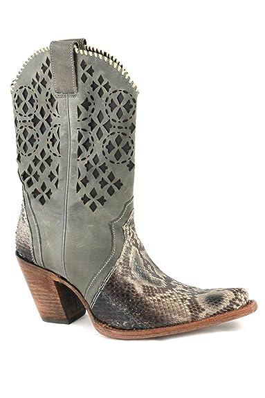 bottines Gris Kenya cowboy CuadraBottes et femme Grau OwP0nk