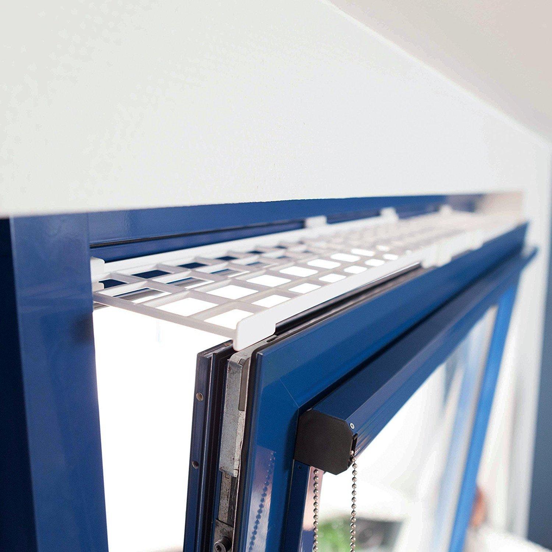 Trixie Schutzgitter f/ür Fenster oben//unten ausziehbar wei/ß 75-125 /× 16 cm