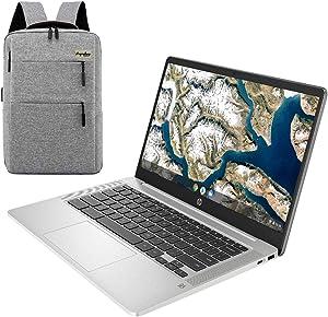 2021 HP Chromebook 14 Inch Full HD 1080P Laptop, Intel Celeron N4000 Dual-Core Processor, 4 GB LPDDR4, 32 GB eMMC Storage, Webcam, WiFi 5, Chrome OS /Legendary Accessories