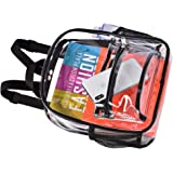 HTLCMMT Clear Backpack Stadium Approved, Clear Backpack Mini, Waterproof Transparent PVC Backpack with Work, Concert…