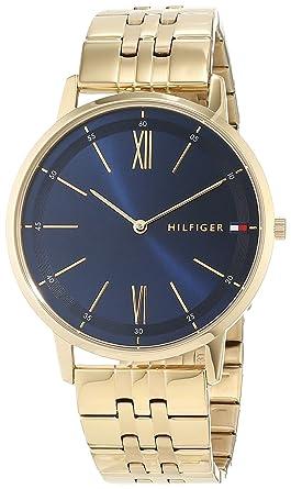 Tommy Hilfiger Reloj Analógico para Hombre de Cuarzo con Correa en Bañada en Oro 1791513: Amazon.es: Relojes
