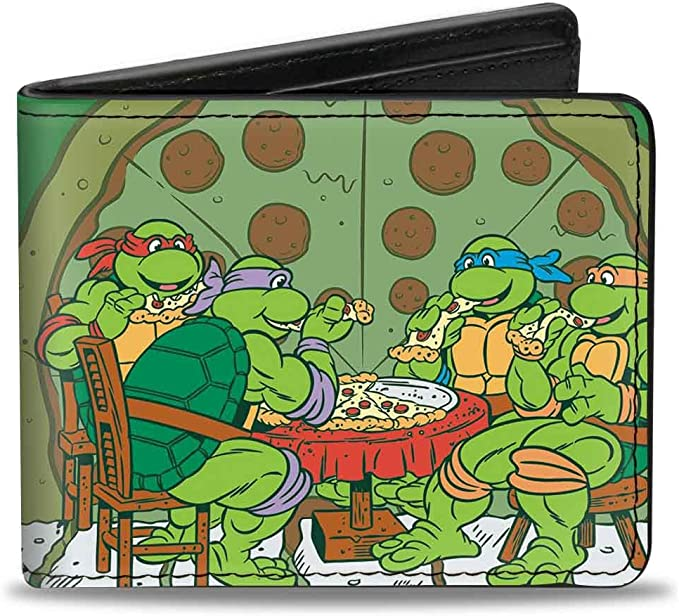 Buckle-Down Mens Wallet Classic Tmnt Ninja Turtles Pizza ...